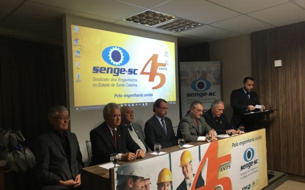 Senge-SC completa 45 anos à frente da luta pela valorização dos engenheiros