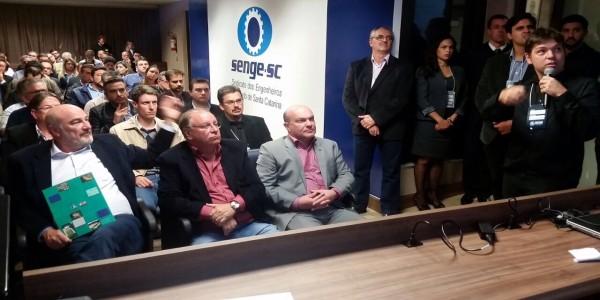 Senge-SC e Casan lançam oficialmente o Congresso Catarinense de Saneamento