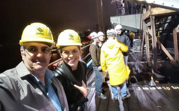 Senge-SC acompanha mais uma etapa da transferência de carga da Ponte Hercílio Luz