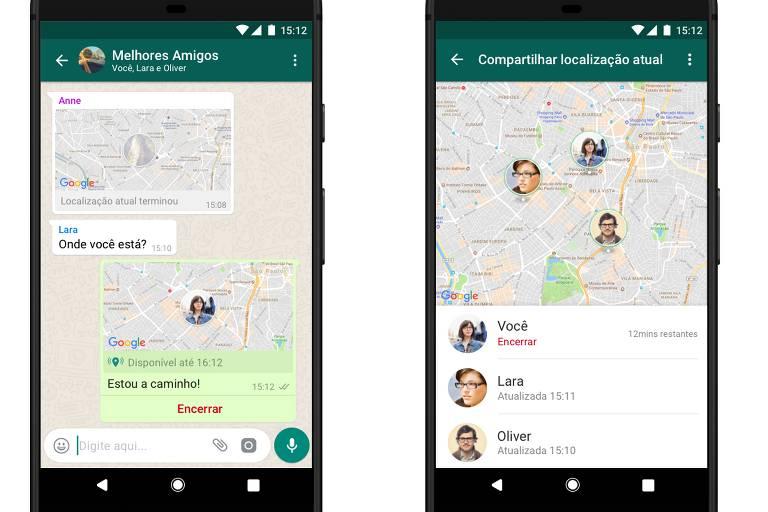 WhatsApp terá compartilhamento de localização em tempo real