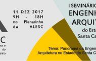 I Seminário Estadual Engenharia e Arquitetura do Estado de Santa Catarina.