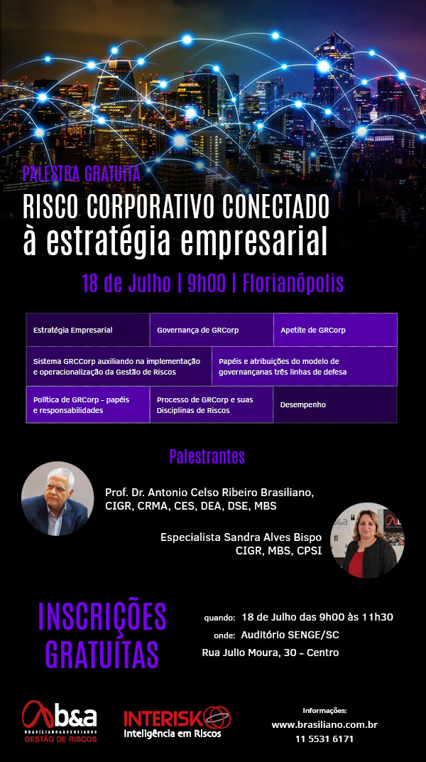 Riscos Corporativos conectados à Estratégia Empresarial