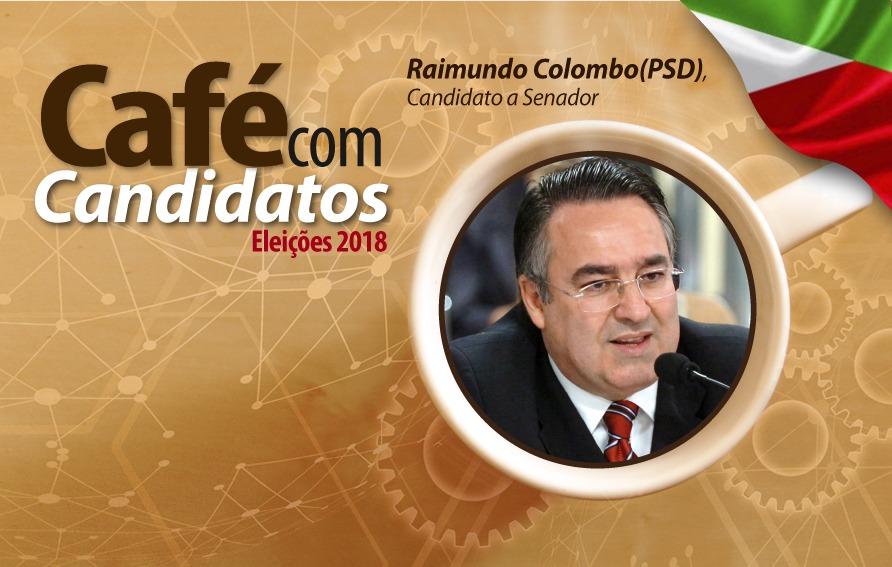 Raimundo Colombo é o primeiro a participar do Café com Candidatos no Senge-SC nesta terça-feira. Confira a programação: