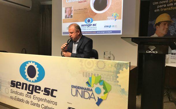 Gelson Merísio participa do Café com Candidadose afirma que a engenharia é fundamental
