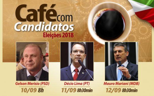 Candidatos ao governo, Merísio, Décio e Mariani participam do Café com Candidatos no Senge-SC nesta semana. Confira a programação: