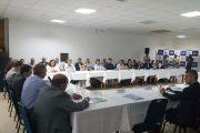Obra da Ponte Hercílio Luz é tema de reunião com o governador e prefeito da capital