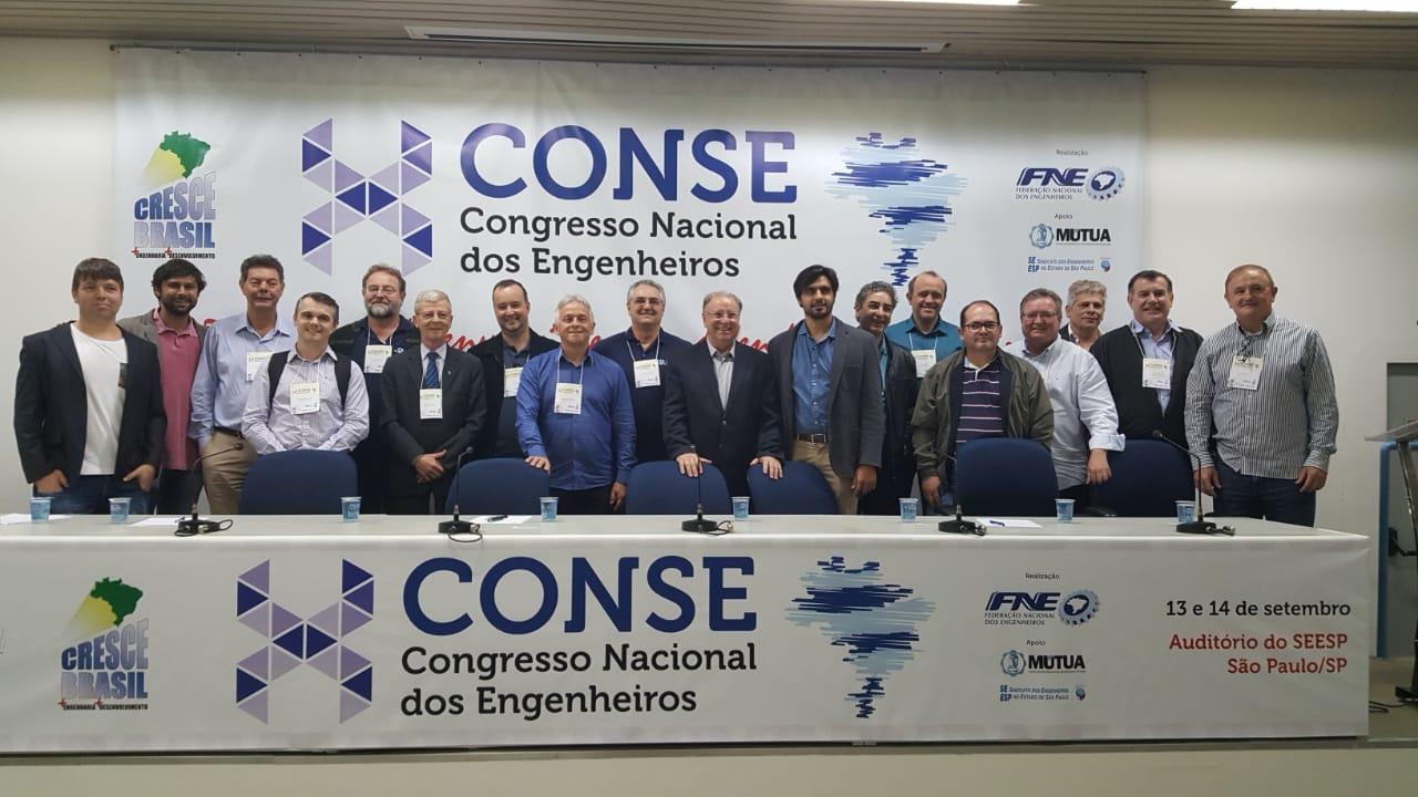 Catarinenses integram nova diretoria da Federação Nacional dos Engenheiros