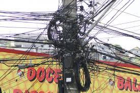 Projeto exige retirada de cabos sem uso de vias públicas