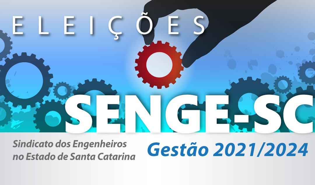 Senge-SC elege nova diretoria e conselheiros dias 8 e 9 de setembro
